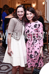 Fran Holuba, JoAnn Mason. Photo by Tony Powell. 2016 Great Ladies Luncheon. Ritz Carlton. April 13, 2016