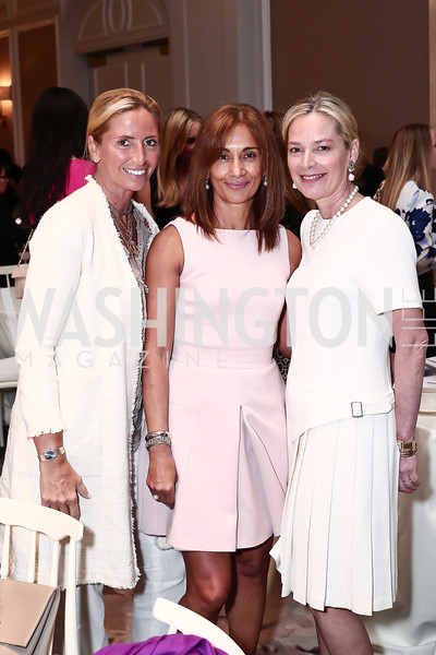 Maria Trabocchi, Marisol LaMadrid, Mariella Trager. Photo by Tony Powell. 2016 Great Ladies Luncheon. Ritz Carlton. April 13, 2016