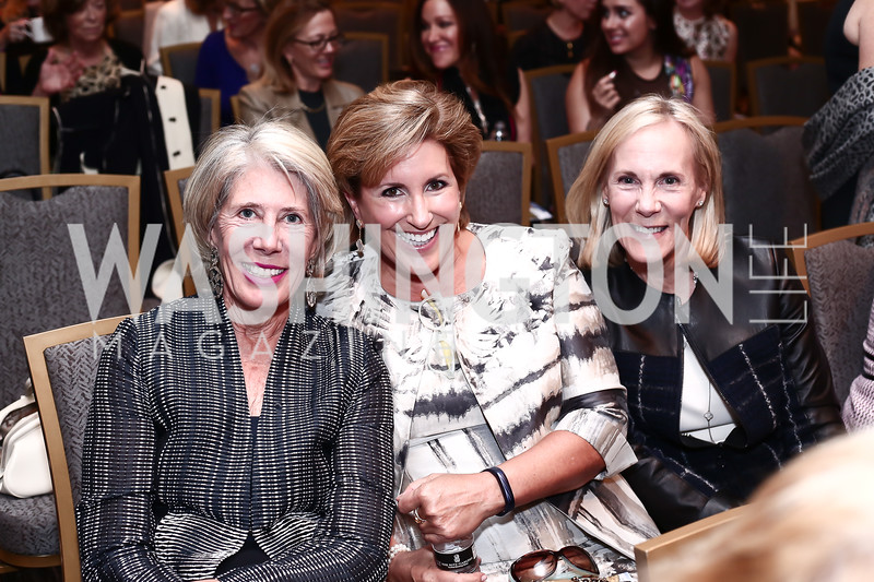 Winton Holladay, Barbara Appleby, Lynda Camalier. Photo by Tony Powell. 2016 Great Ladies Luncheon. Ritz Carlton. April 13, 2016