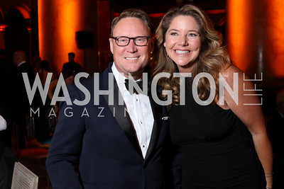 Timothy Lowery, Mary Amons. Photo by Tony Powell. 2016 Harman Gala. Building Museum. September 25, 2016