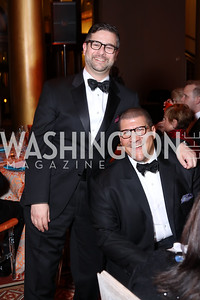 Ken Hyle and Dale Mott. Photo by Tony Powell. 2016 Harman Gala. Building Museum. September 25, 2016