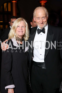 Susan Blumenthal, Charles Dance. Photo by Tony Powell. 2016 Harman Gala. Building Museum. September 25, 2016