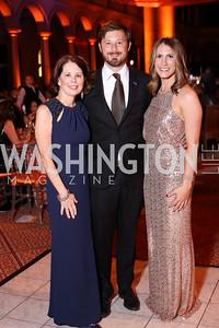 Terri Carr, Nick Phelps, Allie Ishkanian. Photo by Tony Powell. 2016 Harman Gala. Building Museum. September 25, 2016