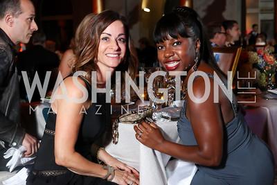 Michelle Delino, Savannah John. Photo by Tony Powell. 2016 Harman Gala. Building Museum. September 25, 2016