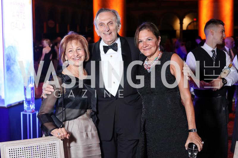 Maxine Isaacs, Stephen Weiswasser, Andrea Weiswasser. Photo by Tony Powell. 2016 Harman Gala. Building Museum. September 25, 2016