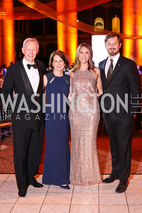 Ed and Terri Carr, Allie Ishkanian, Nick Phelps. Photo by Tony Powell. 2016 Harman Gala. Building Museum. September 25, 2016