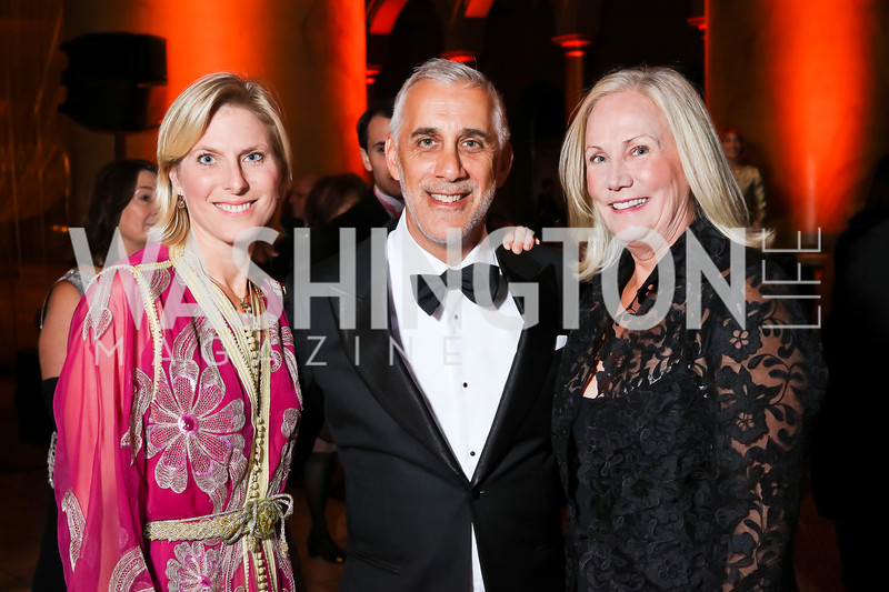 Skye Raiser, Goldman Sachs' David Perlin, Robin Wilder. Photo by Tony Powell. 2016 Harman Gala. Building Museum. September 25, 2016