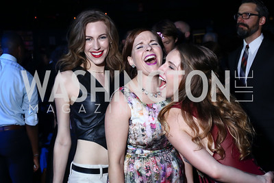 Katrina Clark, Kimberly Gilbert, Amber McGinnis. Photo by Tony Powell. 2016 Helen Hayes Awards Dance Party. 9:30 Club. May 23, 2016