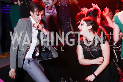 Matt Strote, Emily Blake. Photo by Tony Powell. 2016 Helen Hayes Awards Dance Party. 9:30 Club. May 23, 2016