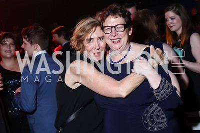 Jeanette Buck, theatreWashington President Amy Austin. Photo by Tony Powell. 2016 Helen Hayes Awards Dance Party. 9:30 Club. May 23, 2016