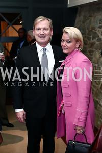 Mark and Lyn McFadden. Photo by Tony Powell. 2016 Hillary Rodham Clinton Awards Dinner. Halcyon House. February 22, 2016