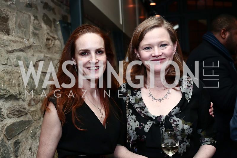 Kate Goodall, Pamela Denby. Photo by Tony Powell. 2016 Hillary Rodham Clinton Awards Dinner. Halcyon House. February 22, 2016
