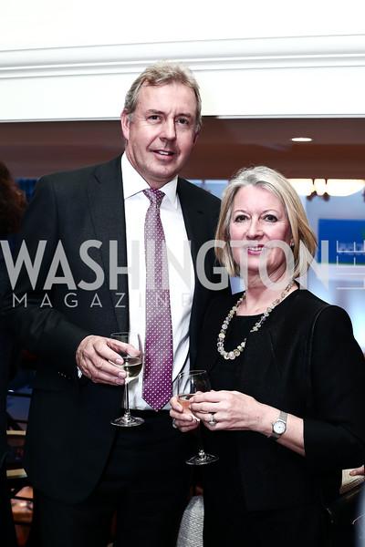 Britain Amb. Kim Darroch and Vanessa Darroch. Photo by Tony Powell. 2016 Hillary Rodham Clinton Awards Dinner. Halcyon House. February 22, 2016