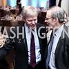 Sweden Amb. Bjorn Lyrvall, NED President Carl Gershman. Photo by Tony Powell. 2016 Hillary Rodham Clinton Awards Dinner. Halcyon House. February 22, 2016