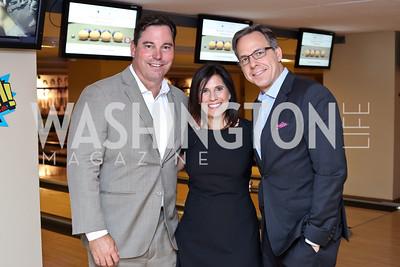 Chip Davis, Laurie Strongin, Jake Tapper. Photo by Tony Powell. 2016 Hope for Henry Benefit. Pinstripes. September 20, 2016