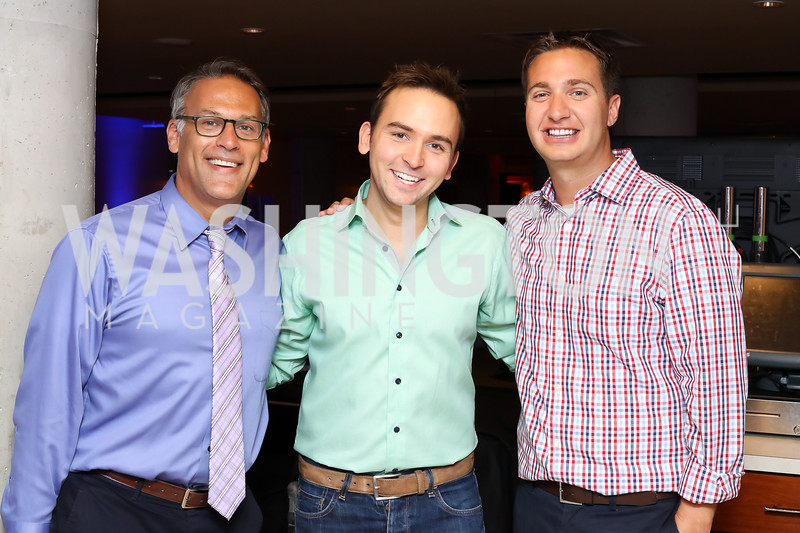 Matt Glassman, Tommy McFly, Jason Gittlen. Photo by Tony Powell. 2016 Hope for Henry Benefit. Pinstripes. September 20, 2016