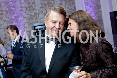 Gary Mather, Tracy FitzGerald. Photo by Tony Powell. 2016 INOVA Honors Dinner. Ritz Carlton Tysons. September 30, 2016