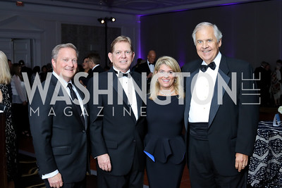 Tony Burchard, Patrick Christiansen, Shaza Anderson, Knox Singleton. Photo by Tony Powell. 2016 INOVA Honors Dinner. Ritz Carlton Tysons. September 30, 2016