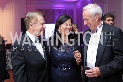 Gary and Tina Mather, Loring Flint. Photo by Tony Powell. 2016 INOVA Honors Dinner. Ritz Carlton Tysons. September 30, 2016