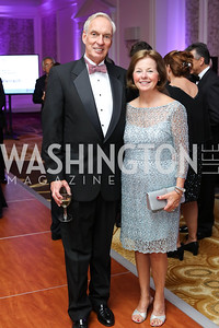 Loring and Nancy Flint. Photo by Tony Powell. 2016 INOVA Honors Dinner. Ritz Carlton Tysons. September 30, 2016