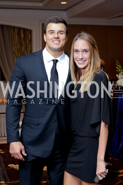 Ryan Kerrigan, Jessica Mazura. Photo by Tony Powell. 2016 INOVA Honors Dinner. Ritz Carlton Tysons. September 30, 2016