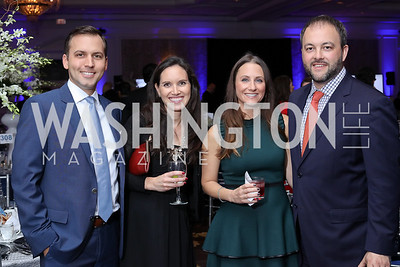Zack and Erin Ford, Caitlin Dancy and John Liffert. Photo by Tony Powell. 2016 INOVA Honors Dinner. Ritz Carlton Tysons. September 30, 2016