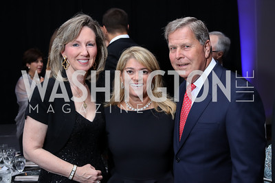 Rep. Barbara Comstock, Shaza Anderson, Nick Carosi. Photo by Tony Powell. 2016 INOVA Honors Dinner. Ritz Carlton Tysons. September 30, 2016