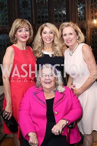 Esther Coopersmith surrounded by Nahla Reda, Janet Pitt, and Betty Ann Tanner. Photo by Tony Powell. 2016 ISH Global Leadership Dinner. ISH. September 8, 2016