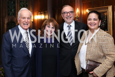 Lloyd and Ann Hand, Mexico Amb. Carlos Sada and Maria Elena Sada. Photo by Tony Powell. 2016 ISH Global Leadership Dinner. ISH. September 8, 2016