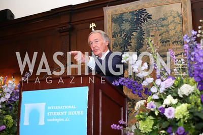 Sen. Ed Markey. Photo by Tony Powell. 2016 ISH Global Leadership Dinner. ISH. September 8, 2016