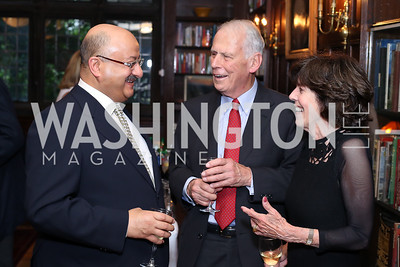 Saudi Amb. Abdullah Al Saud, Walter and Didi Cutler. Photo by Tony Powell. 2016 ISH Global Leadership Dinner. ISH. September 8, 2016