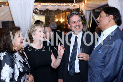 Shaista Mahmood, Lisa Barry, Greece Amb. Haris Lalacos, Ray Mahmood. Photo by Tony Powell. 2016 ISH Global Leadership Dinner. ISH. September 8, 2016