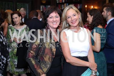 Hungary Amb. Reka Szemerkenyi, Mariella Trager. Photo by Tony Powell. 2016 ISH Global Leadership Dinner. ISH. September 8, 2016