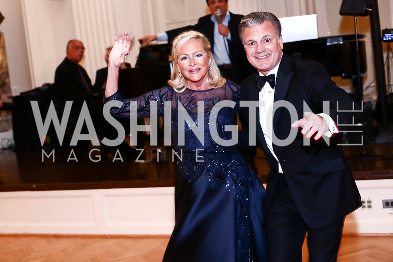 Deborah Sigmund, Bruce Neal. Photo by Tony Powell. 2016 Innocents at Risk Gala. OAS. April 19, 2016