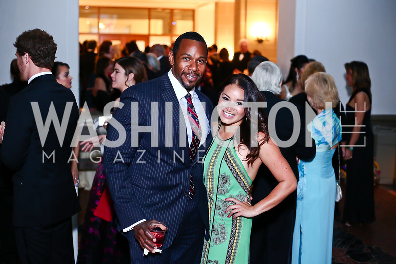 Rahsaan Bernard, Gabriella Robayo. Photo by Tony Powell. 2016 Innocents at Risk Gala. OAS. April 19, 2016