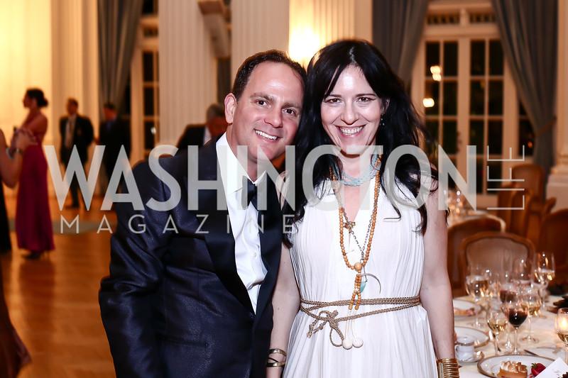 Richard Marks, Nora Maccoby. Photo by Tony Powell. 2016 Innocents at Risk Gala. OAS. April 19, 2016