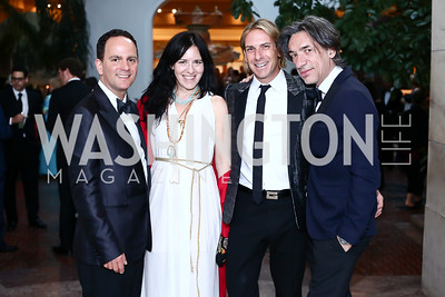 Richard Marks, Nora Maccoby, Marc Cipullo, Septime Webre. Photo by Tony Powell. 2016 Innocents at Risk Gala. OAS. April 19, 2016