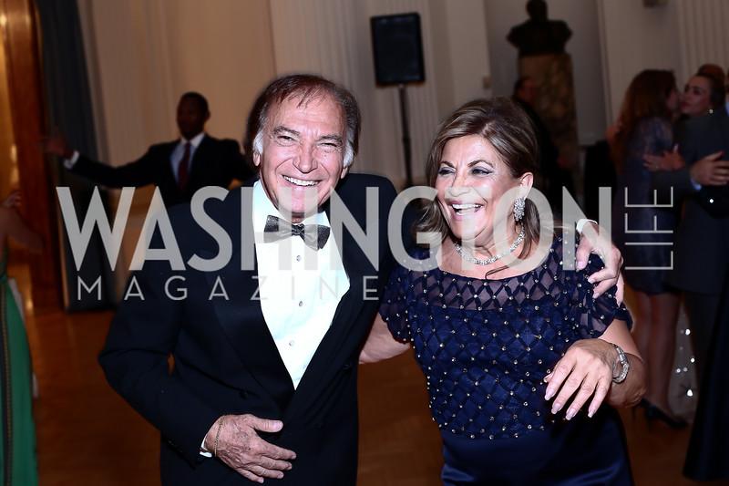 Leo Sahakian, Annie Totah. Photo by Tony Powell. 2016 Innocents at Risk Gala. OAS. April 19, 2016