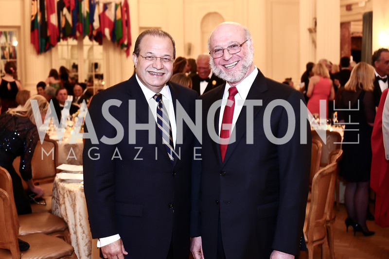 Dominican Republic Amb. José Tomás Pérez, Dominican Republic to the OAS Amb. Pedro Vergés Ciman. Photo by Tony Powell. 2016 Innocents at Risk Gala. OAS. April 19, 2016