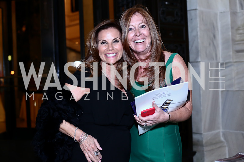 Lynda Erkiletian, Elizabeth Centenari. Photo by Tony Powell. 2016 Innocents at Risk Gala. OAS. April 19, 2016