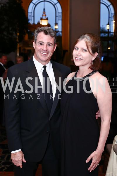 Doug Gansler and Laura Leedy Gansler. Photo by Tony Powell. 2016 Innocents at Risk Gala. OAS. April 19, 2016