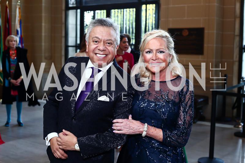 Angel Saltos, Deborah Sigmund. Photo by Tony Powell. 2016 Innocents at Risk Gala. OAS. April 19, 2016