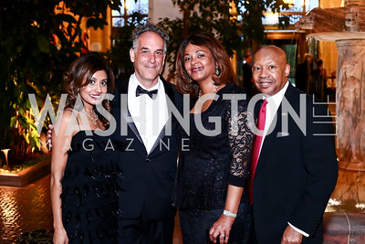SOLD Actress Seirah Royin, SOLD Director Jeffrey Brown, Marcia and Alphonso  Jackson. Photo by Tony Powell. 2016 Innocents at Risk Gala. OAS. April 19, 2016