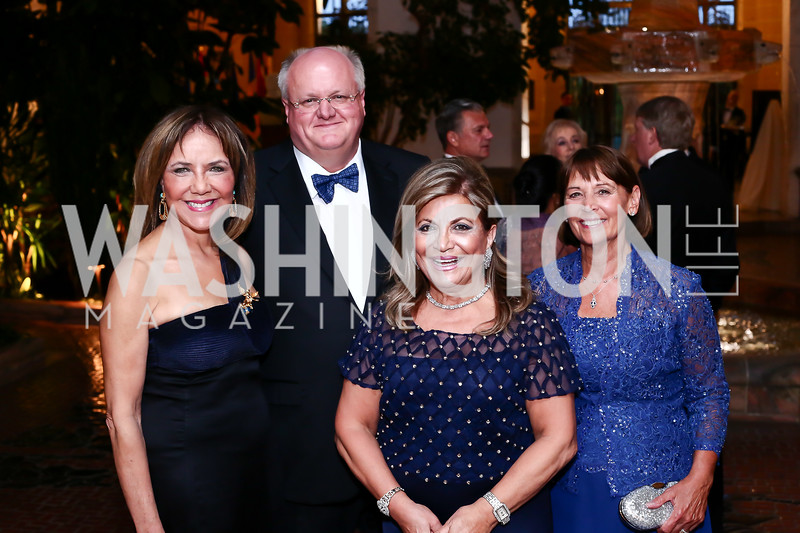 Barbara Harrison, Frank Mars, Annie Totah, Susan Mars. Photo by Tony Powell. 2016 Innocents at Risk Gala. OAS. April 19, 2016