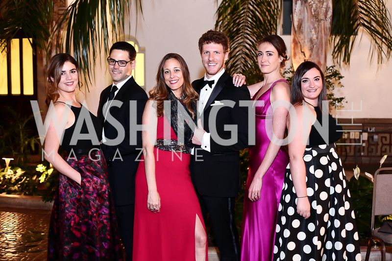 Luz DiMarco, Victor Almeida, Celene Di Stasio, Shane Yeager, Maria Hayden, Christine Jubert. Photo by Tony Powell. 2016 Innocents at Risk Gala. OAS. April 19, 2016