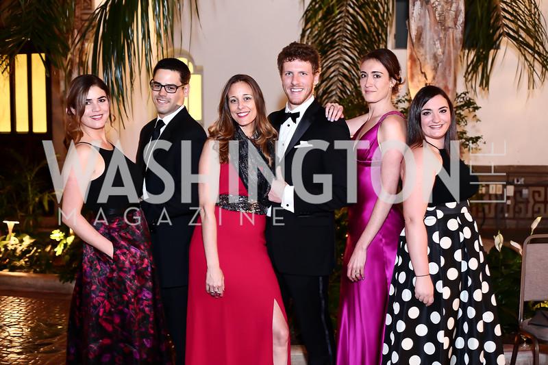 Luz DiMarco, Victor Almeida, Celene Di Stasio, Shane Yeager, Maria Hayden, Christine Jubert. Photo by Tony Powell. 2016 Innocents at Risk Gala. OAS. April 19, 2016