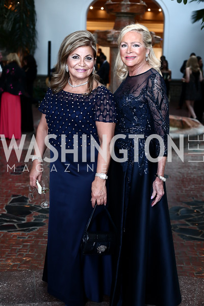 Annie Totah, Deborah Sigmund. Photo by Tony Powell. 2016 Innocents at Risk Gala. OAS. April 19, 2016