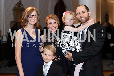 Sarah and Lucas Greider, Sage Bolte, Liv and Mike Greider. Photo by Tony Powell. 2016 Hisaoka Gala. Omni Shoreham. September 17, 2016