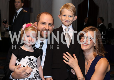 Liv, Mike, Lucas, and Sarah Greider. Photo by Tony Powell. 2016 Hisaoka Gala. Omni Shoreham. September 17, 2016