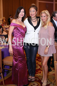 Nina Snow, Pamela Sorensen, Victoria Michael. Photo by Tony Powell. 2016 Hisaoka Gala. Omni Shoreham. September 17, 2016